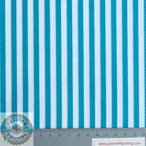 Anthology Teal Stripe BC28-6 designed by Jacqueline de Jonge per 25cm