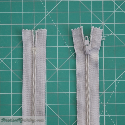 Zipper Conventional 29cm  Light Grey