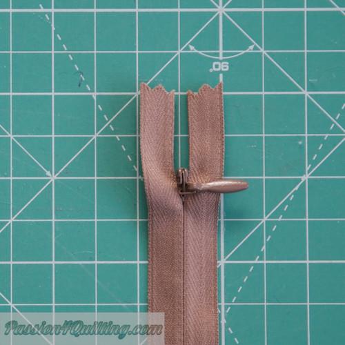 Coffee invisible zipper 30cm