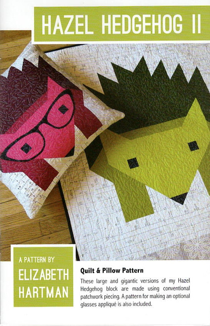 Hazel Hedgehog II Quilt Pattern by Elizabeth Hartman.