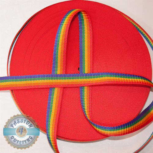 Webbing Rainbow. Per metre