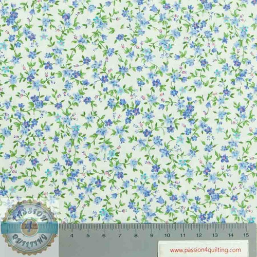 SevenBerry small flower Blue Design 6110 per 25cm