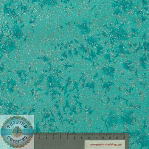 Fairy Frost Whirlpool Teal per 25cm