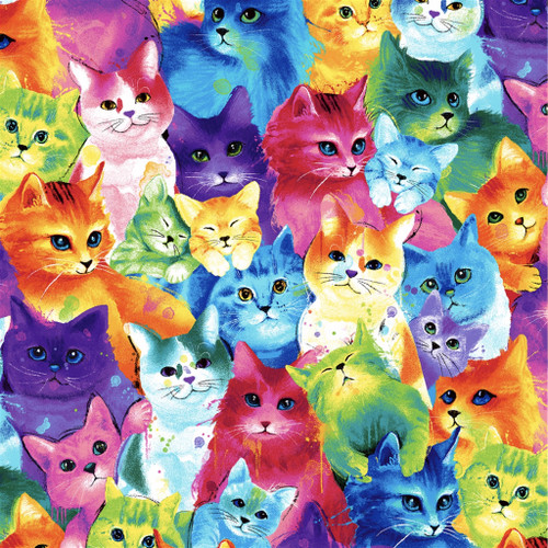 Multi Packed Cats by Chong A Hwang design C7485 per 25cm