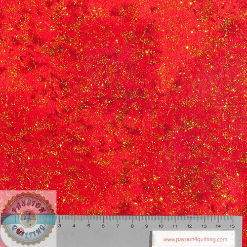 Fairy frost Hollyberry Red and Gold  Per 25cm