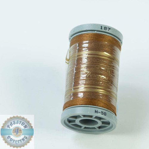 Presencia Cotton Quilting Thread 50wt 500m Colour 187 Brown