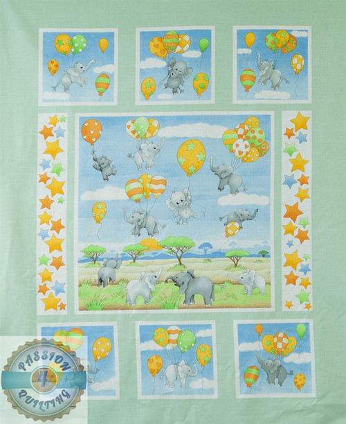 Up and Away Allover blue Panel