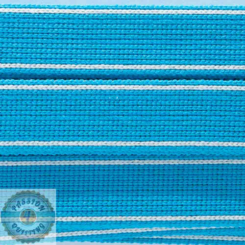 Turquoise Blue Cotton Blend Webbing. Per metre