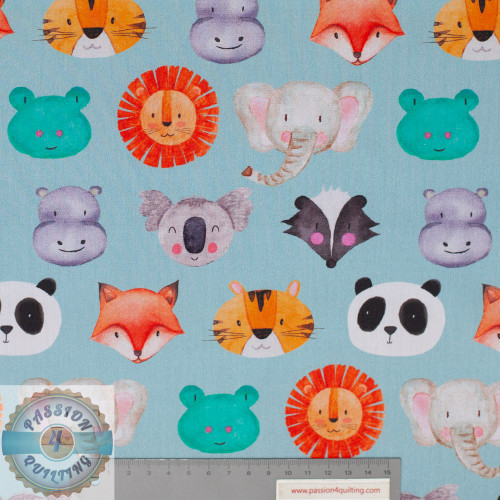 Petit kids Blue animal  faces 5159