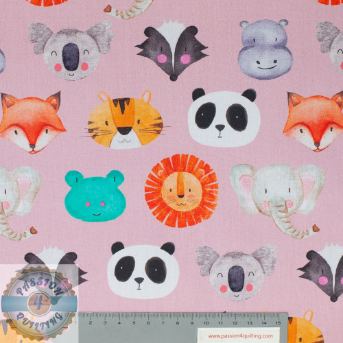 Petit kids pink animal  faces 5162
