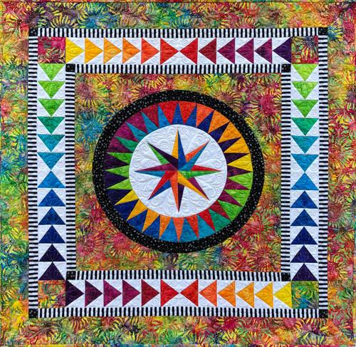 Sunflower -   Happiness 2.0. by Jacqueline de Jonge Quilt Kit
