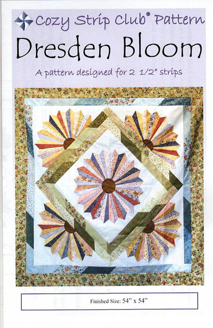 Dresden Bloom from Stripes Cozy Quilt Designs
