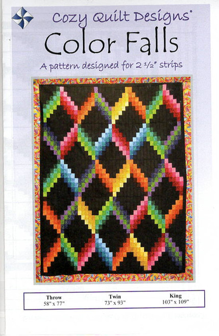 Color Falls from Strips Cozy Quilt Designs