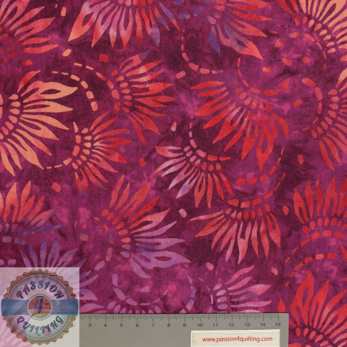 "Magenta coloured flowers Design on Magenta 108"" wide per 25cm"