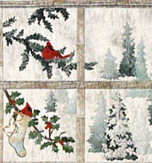Joyeux Noel Window pattern by McKenna Ryan