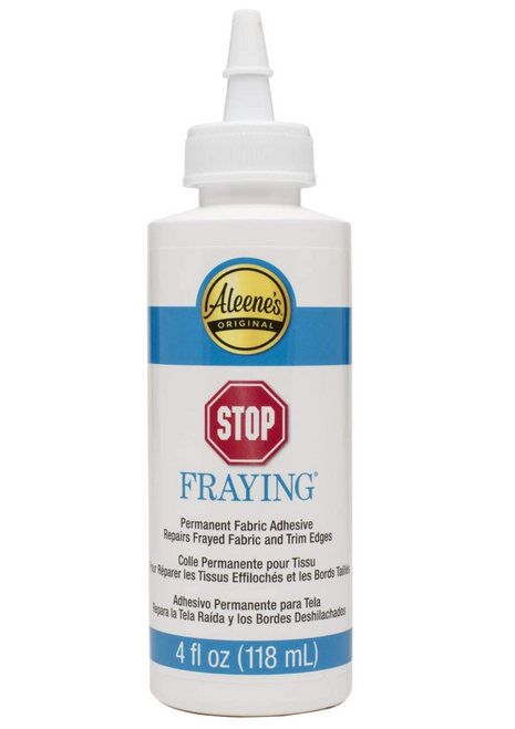 Aleene's Stop Fraying a permanent fabric adhesive 4oz