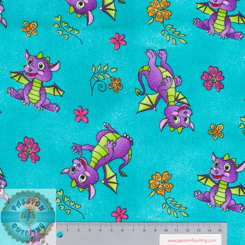 Purple Dragons 56 inch wide Per 25cm