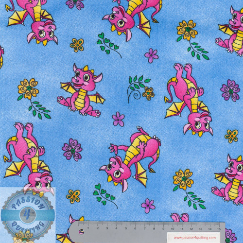 Pink Dragons 56 inch wide per 25cm