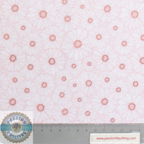Daisy Mae Pink Flowers Design 113 per 25cm