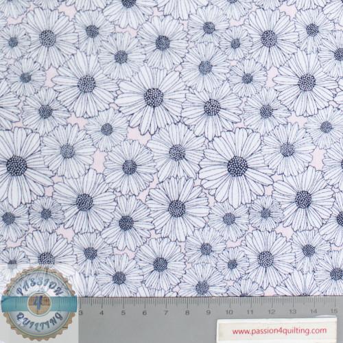 Daisy Mae Navy Flowers Design 112 per 25cm