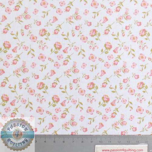Daisy Mae Pink Flowers and Stem Design 109 per 25cm