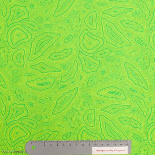 Tula Pink Mineral Peridot Green per 25cm