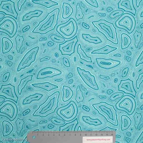 Tula Pink Mineral Aquamarine Blue per 25cm