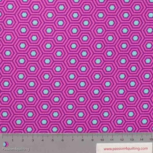 Tula Pink Hexy Thistle Purple per 25cm