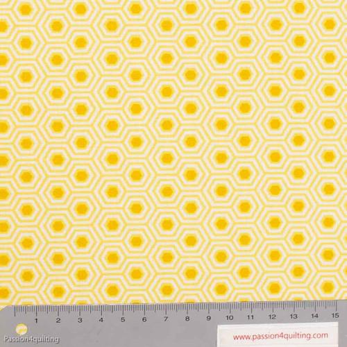 Tula Pink Hexy Sunshine Yellow per 25cm