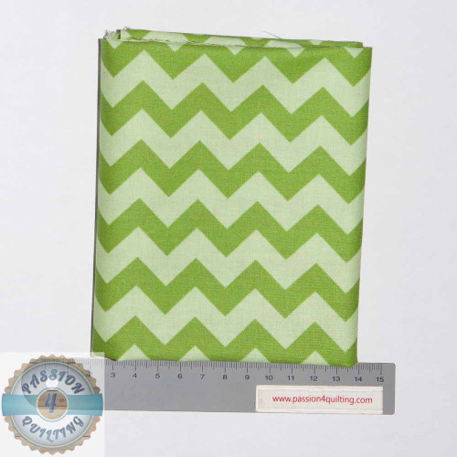 Green chevron- Fat Quarter