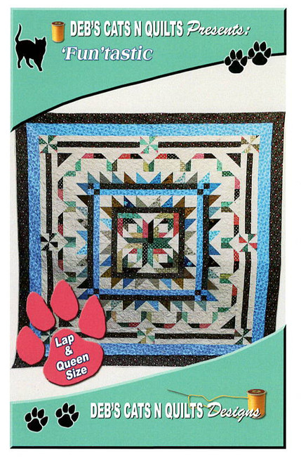 Funtastic quilt pattern by Deb's Cats N Quilts