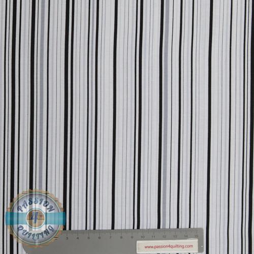 Stripe 49997 Black  by Judy Niemeyer per 25cm