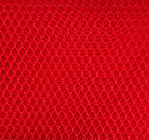 By Annie Mesh fabric Atom Red