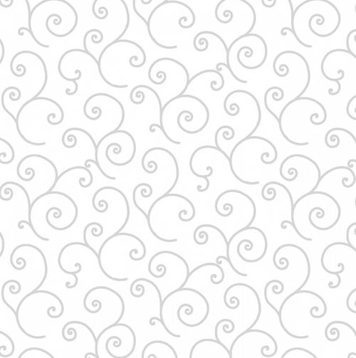White on white scroll 8243M-WW