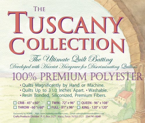 Hobbs Tuscany Collection Premium Polyester Batting