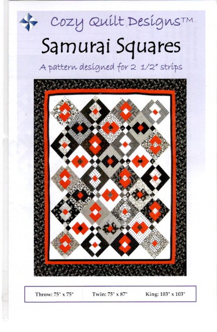 Samurai Squares  from Stripes Cozy Quilt Designs