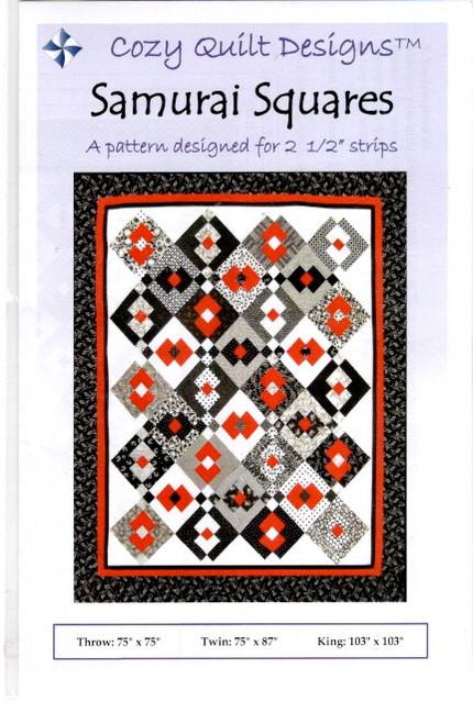 Samurai Squares  from Stripes Cozy Quilt Designs