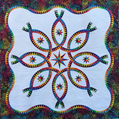 Color Dance Quilt kit designed by Jacqueline de Jonge BC2005