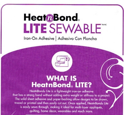 Heat n Bond Lite  Sewable Iron-on Adhesive  per meter
