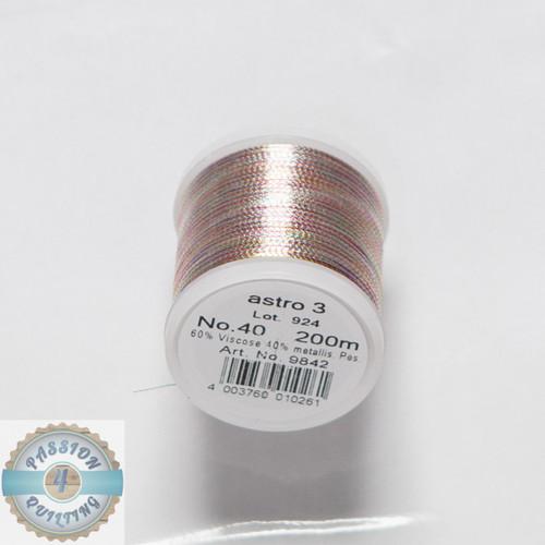 Metallic Thread Rainbow Red