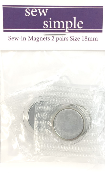 Sew Simple Sew-in Magnet 18mm   2 pairs