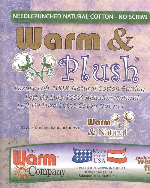 "Warm and Plush Cotton Wadding-Batting 6oz  90"" wide per 25cm"
