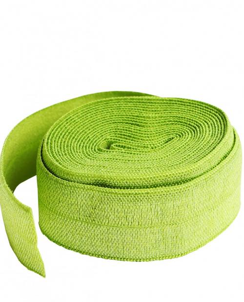Fold-Over Elastic 2yard Apple Green