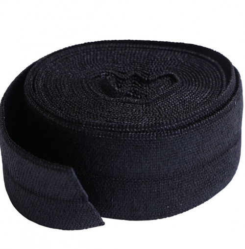 Fold-Over Elastic 2yard Black