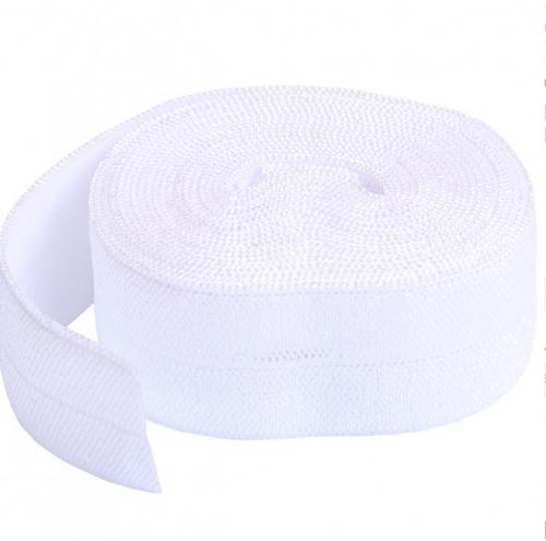 White Fold-over elastic