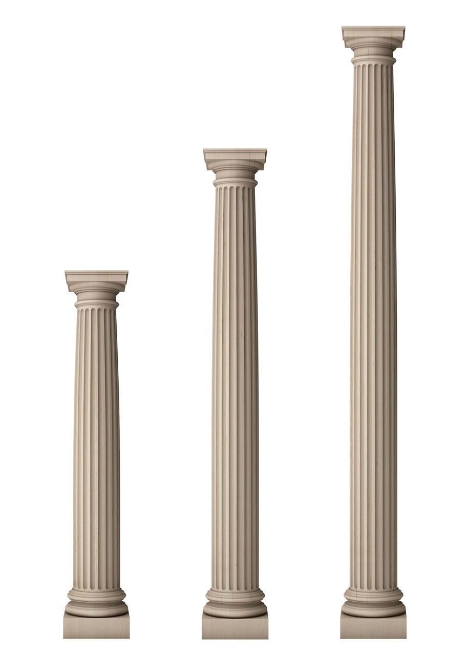 "Fluted Architectural Doric Columns 6 1/2"" Diameter - TableLegs.com"