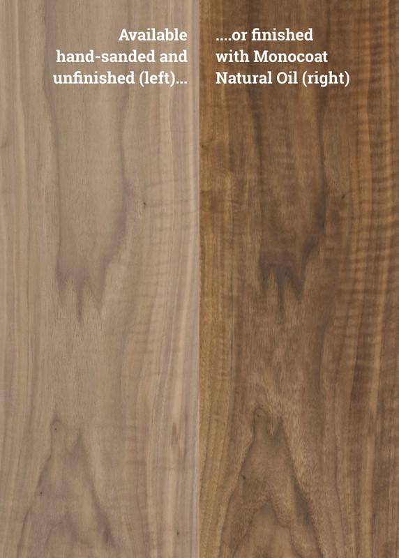 Custom Round Walnut Table Top – Solid Wood