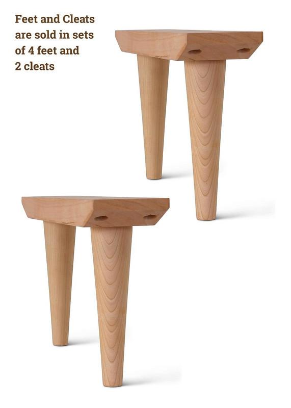 END TABLE LEGS SOLID OAK Coffee 20th Modern Angles SET of 4 Custom Table Legs