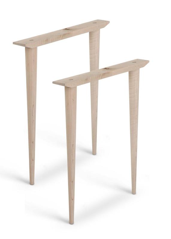 McCobb Mid-Century Modern Table Base Set (4 Legs & 2 Straight Cleats)