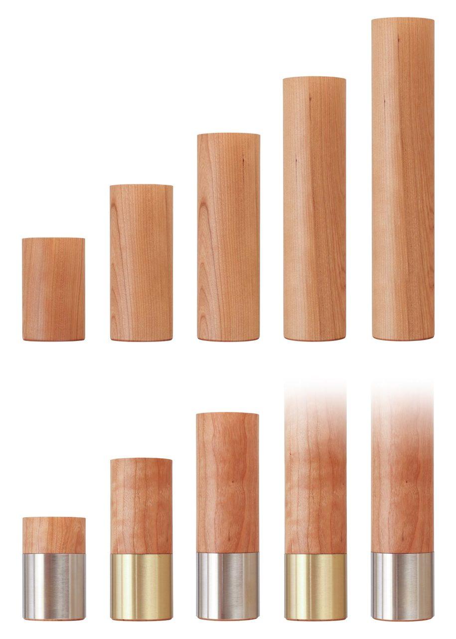Large Circa Round Furniture Feet 2 5 X 4 To 12 Tablelegs Com